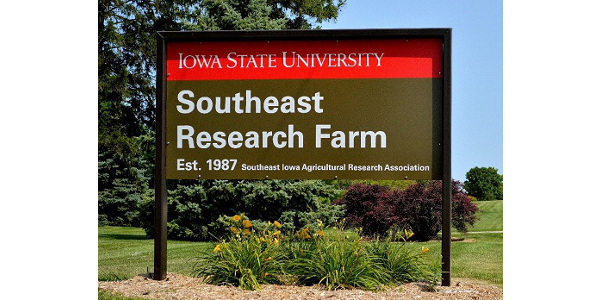 Farmers and farm businesses in southeastern Iowa can learn about the latest crop production research and trends during the Iowa State University Southeast Research and Demonstration Farm spring field day June 20. (Courtesy of ISU Extension and Outreach)