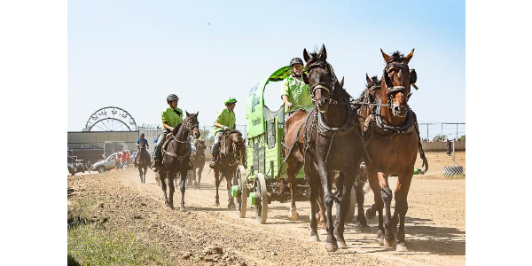 The Sleep Number Grandstand will showcase multiple fan favorite dirt events, including the final appearance of chuckwagon races, during the nine days of the 2019 Clay County Fair, September 7-15. (Courtesy of Clay County Fair & Events Center)