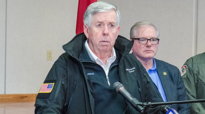 Missouri Gov. Mike Parson. (139th Airlift Wing, Public Domain)