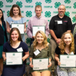 Front row – far right) Grace Reiss from Delaware County was awarded the Theisen's Home | Farm | Auto 4-H Scholarship through the Iowa 4-H Foundation. (Courtesy of ISU Extension and Outreach)