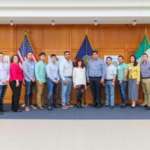 To help those purchasing grain in Mexico have a better understanding of risk management, trading and hedging principles, Guy Allen led a two-day training for 11 buyers that were part of the U.S. Grains Council trade team. (Courtesy of KSU)