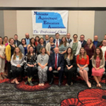 Past recipients of the Nebraska Farm Bureau Foundation's Agriculture Education Student Teaching Scholarship and Teacher Retention Awards were recognized by Nebraska Farm Bureau President, Steve Nelson. (Courtesy of Nebraska Farm Bureau)