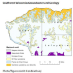 Southwest Wisconsin groundwater and geology. (Courtesy of Ken Bradbury)