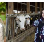Cora Carpenter (left) and Jessica Magdanz (right). (Courtesy of Edge Dairy Farmer Cooperative)