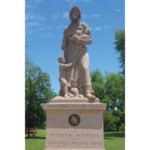 More than a century ago, the Daughters of the American Revolution began the process of placing statues to honor pioneer women across the nation. Only twelve of those statues were built and placed across the country, and one of those can be found in Council Grove, Kansas. (Courtesy of K-State Research and Extension)