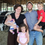 Lynn and Dan Bolin of New Day Dairy, Clarksville, Iowa, have received agritourism advice from ISU Extension and Outreach's Farm, Food and Enterprise Development Program. (Photo supplied by Bolin family)