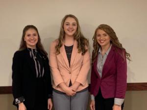 Photo left to right: Rachel Smith, Jennifer Sedlacek, and Gracie Pinckney.