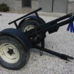 Blue ribbon winning all-terrain torch cart made by John Thumma of Laurens, Iowa. (Courtesy of Clay County Fair)