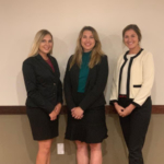 Photo left to right: Kelsey Phillips, Anna Kobza, and Sydni Lienema. (Courtesy of Nebraska Cattlemen)