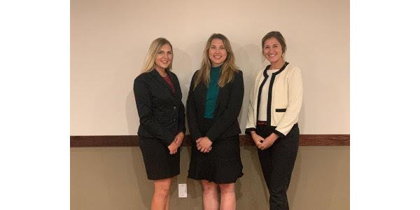 Photo left to right: Kelsey Phillips, Anna Kobza, and Sydni Lienema. (Courtesy of Nebraska Cattlemen)