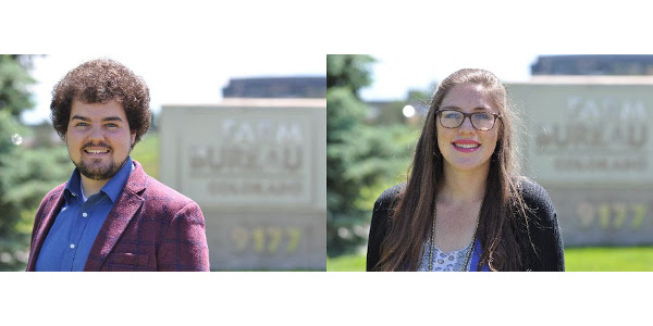 Gus Gill (left) and Morgaine Milligan (right) will work as interns for Colorado Farm Bureau this summer. (Courtesy of CFB)