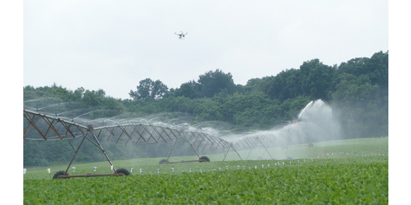 Maintaining and repairing irrigation sprinklers assures irrigators that all areas of the field are receiving adequate water and no areas are being overwatered. (Photo by Eric Anderson, MSU Extension)