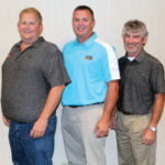 From left to right: Ryan Bivens will again serve the Kentucky Soybean Board as Chairman. Jed Clark was reelected Vice Chairman, and Larry Thomas was reelected as Secretary/Treasurer. (Courtesy of The Kentucky Soybean Board)