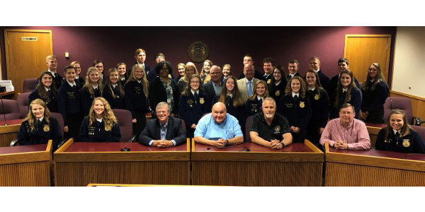 Thirty Missouri FFA seniors capped off three days of intensive advocacy training by performing mock legislative hearings Thursday, June 27 as part of the 2019 HYPE Academy sponsored by Missouri Corn. (Photo Credit: Missouri Corn)