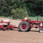 Farmer planting corn in SW Michigan. (Courtesy of MSU Extension)