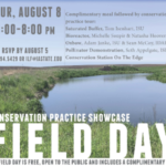 Iowa Learning Farms, in partnership with Iowa State University Extension and Outreach, and Iowa State University Research and Demonstration Farms, will host a conservation practice showcase field day on Thursday, August 8th from 6:00-8:00 p.m. at the Iowa State University Uthe Farm near Madrid. (Screenshot from flyer)
