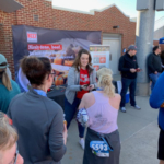 2,000 beef jerky samples were provided to runners at the Drake Road Race Recovery Zone after completing 5K, 10K and half-marathon road races. (Courtesy of Iowa Beef Industry Council)