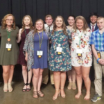 Plymouth County had 11 delegates at State 4-H Conference in Ames. Back Row L-R Cael Moffatt, Abbey Riemenschneider, Sara Stegge, Jack Kessenich, Emily Attrill, Nicholas Wagner and Evan Steeg. Front row L-R: Bailiee Jauer, Claire Ohlrichs, Miranda Ball and Thomas Stegge. (Courtesy of ISU Extension and Outreach)