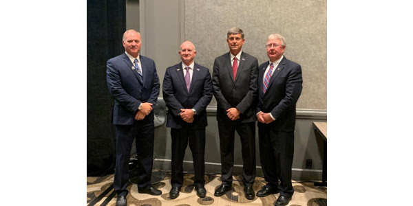 NCGA Corn Board Election Winners; Left to right; Mike Lefever of Colorado; Chris Edgington of Iowa; Dennis McNinch of Kansas; Tom Haag of Minnesota. (Courtesy of Kansas Corn)