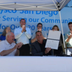 U.S. Secretary of Agriculture Sonny Perdue visited Sysco Corporation in San Diego, California to tour the facilities and join the company's signing of the Pledge to America's Workers. (Courtesy of USDA)