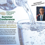 Governor Tony Evers plans to highlight the Year of Clean Drinking Water during a stop at the Wisconsin Farmers Union Summer Conference this Thursday, August 15 in Chippewa Falls. (Courtesy of Wisconsin Farmers Union)