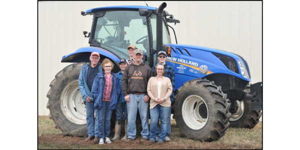 The active farmers in the Gustafson family are pictured above from left include: Roger & Sue Gustafson, Alex Nelson, Evan, Scott, Amanda, & Brooks Gustafson. (Courtesy of University of Minnesota Extension)