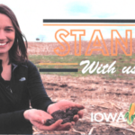 Join Meaghan Anderson, Iowa State University Field Agronomist, and Carrie Dodds, Iowa Corn District 5 Field Manager, for coffee and conversation about the 2019 harvest season. (Screenshot from flyer)