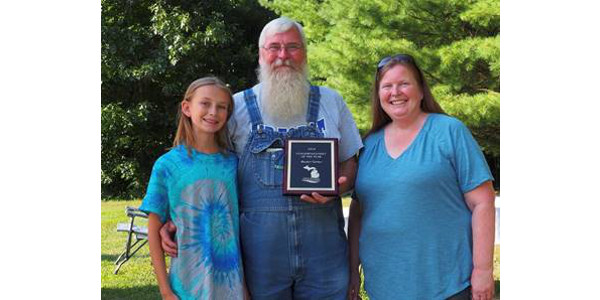 Buster Turner and Family, Lawton, MI. Conservationist of the Year. (Courtesy of Van Buren Conservation District)