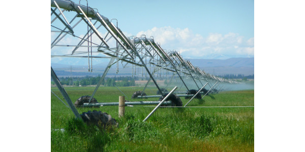 An example of an irrigation system used to keep crops healthy. (Courtesy of University of Missouri)