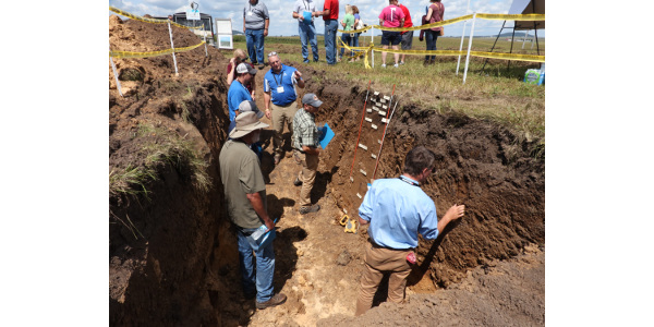 The event, held Aug. 15 at the University of Wisconsin-Platteville's Pioneer Farm, centered on the importance of having healthy soil in protecting the quality of surface and groundwater. (Courtesy of Lafayette Ag Stewardship Alliance)