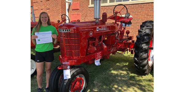 This year's overall winner of the IH Award was Ashley Rosener of Crawford County. (Courtesy of ISU Extension and Outreach)