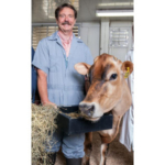 Randy Shaver, professor of dairy science at UW–Madison, is shown in this July 28, 2014, file photo at the university's Dairy Cattle Center in Madison, Wis. (Photo by Wolfgang Hoffmann/UW–Madison CALS)