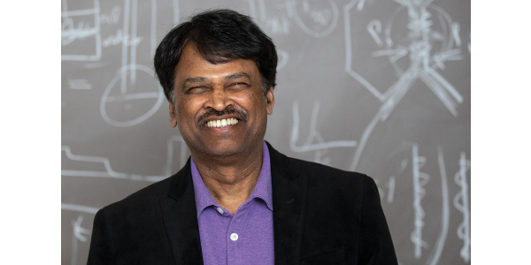 Srinivasan Damordaran, the Owen R. Fennema Professor in Food Chemistry at CALS, has made a career of engineering proteins to solve food and nonfood problems. (Photos by Michael P. King)