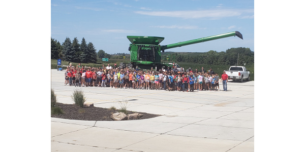 Two hundred fifth graders gathered in Wayne to learn all about how important agriculture is to their everyday lives. (Courtesy of Nebraska Farm Bureau Foundation)
