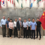Members of the U.S. Grains Council China trade team traveled to the IGP Institute to learn about grain trading practices. (Courtesy of KSU)