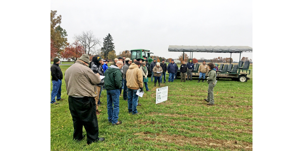 Attendees will learn about precision cover cropping and minimum till organic systems. (Photo by Brook Wilke, MSU)