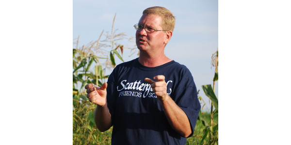 Mark Quee, farm manager at Scattergood Friends School Farm, will host a field day – in partnership with Practical Farmers of Iowa and Xerces Society – exploring ways to add pollinator habitat to farmland on Tuesday, Sept. 17, from 4-7 p.m., at the farm located at 258 290th St., about 1.5 miles east of town. (Courtesy of Practical Farmers of Iowa)