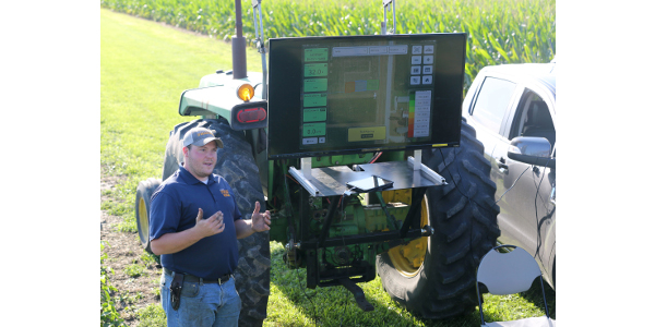 Bo Young works with farmers and producers, helping them incorporate precision agriculture technology in their operations. (Courtesy of University of Missouri Extension)