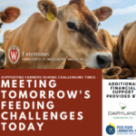 "Because of the financial impact of feed on the milking herd, UW-Madison Extension will be hosting a ""Meeting Tomorrow's Feeding Challenges Today"" Seminar, as part of our popular ""Supporting Farmers During Challenging Times"" meetings. (Screenshot from flyer)"