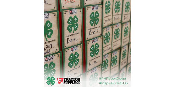 From Oct. 9 through Oct. 20, Tractor Supply Co. customers in Missouri can participate in the campaign by purchasing paper clovers for $1 or more at checkout. (Courtesy of University of Missouri Extension)