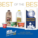 "Hiland Dairy's Strawberry Yogurt made in Wichita, Kansas, Whole Chocolate Milk made in Little Rock, Arkansas, Bulgarian Buttermilk made in Chandler, Oklahoma, Natural Sour Cream made in Norman, Oklahoma, Sassy Salsa Dip made in Omaha, Nebraska and Vanilla Ice Cream made in Tyler, Texas were first-place winners, or ""Best of the Best"" at the 2019 World Dairy Expo (WDE) Championship Dairy Product Contest. (Courtesy of Hiland Dairy Foods Company)"