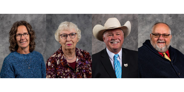 Ann Vostad, Donna Adrian, Gary Cammack and Ludwig Hohm will be recognized with the Eminent Leaders in Agriculture, Family and Community honor during a banquet on Sept. 20 at the McCrory Gardens Education and Visitor Center in Brookings. (Courtesy of SDSU)