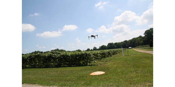 Thanks to a grant from Michigan State University AgBioResearch, RS&GIS and the Bruno Basso Lab, a series of free drone workshops will be offered in 2019 for agricultural professionals across Michigan. (Photo by Mindy Tape, MSU)