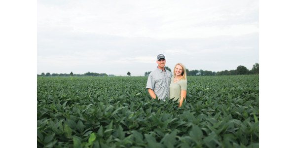 Houston Howlett and his wife, Katy, of Camp Nevin Farms in Glendale have been selected by the Kentucky Soybean Association to represent the Commonwealth as its 2020 American Soybean Association Corteva Agriscience Young Leaders. (Courtesy of Kentucky Soybean Association)
