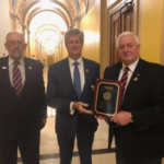 Nebraska Farmers Union (NeFU) presented Representative Jeff Fortenberry with the Golden Triangle Award, National Farmers Union's (NFU) highest legislative honor. (Courtesy of NeFU)