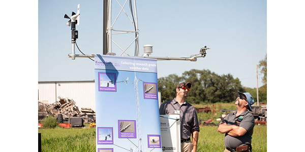 Kansas Mesonet, based at Kansas State University is expanding and upgrading its network of weather stations across the state. (Courtesy of K-State Research and Extension)
