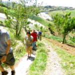 Receiving funds to study abroad is one way College of Agriculture and Life Sciences students benefit from scholarships -- including this group of students touring a vegetable farm in Costa Rica. Last year the college awarded more than $221,000 in study abroad scholarships, to 358 students, who studied in 36 countries and on all seven continents. (Courtesy of ISU Extension)