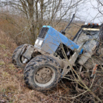 Tractor fell into the ditch. (By Evgeny Govorov/stock.adobe.com)