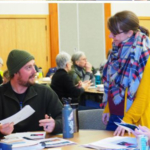 Trevor Blake, assistant gardener, Fort Snelling National Cemetery, took the Master Gardener core course taught by U of M Extension horticulture faculty and educators, like Christy Marsden. (Courtesy of University of Minnesota Extension)