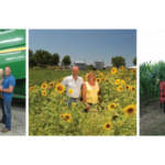 Three finalists - Brinker Farms, Oetting Homestead Farms, and Joshlin and Addie Yoder - have been selected for the prestigious 2019 Missouri Leopold Conservation Award®. Given in honor of renowned conservationist Aldo Leopold, the award recognizes farmers, ranchers and foresters who inspire others with their dedication to land, water and wildlife habitat management on private, working land. This year's recipient will be announced in February 2020 at the Missouri Natural Resources Conference. Pictured (L-R): Brinker Farms; Oetting Homestead Farms; and Joshlin and Addie Yoder, Photo Credit: Stella + Eden (Courtesy of Missouri Farmers Care)